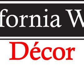 #57 para Design a Logo for California Wood Decor de scchowdhury