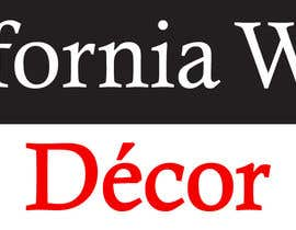 #58 za Design a Logo for California Wood Decor od scchowdhury