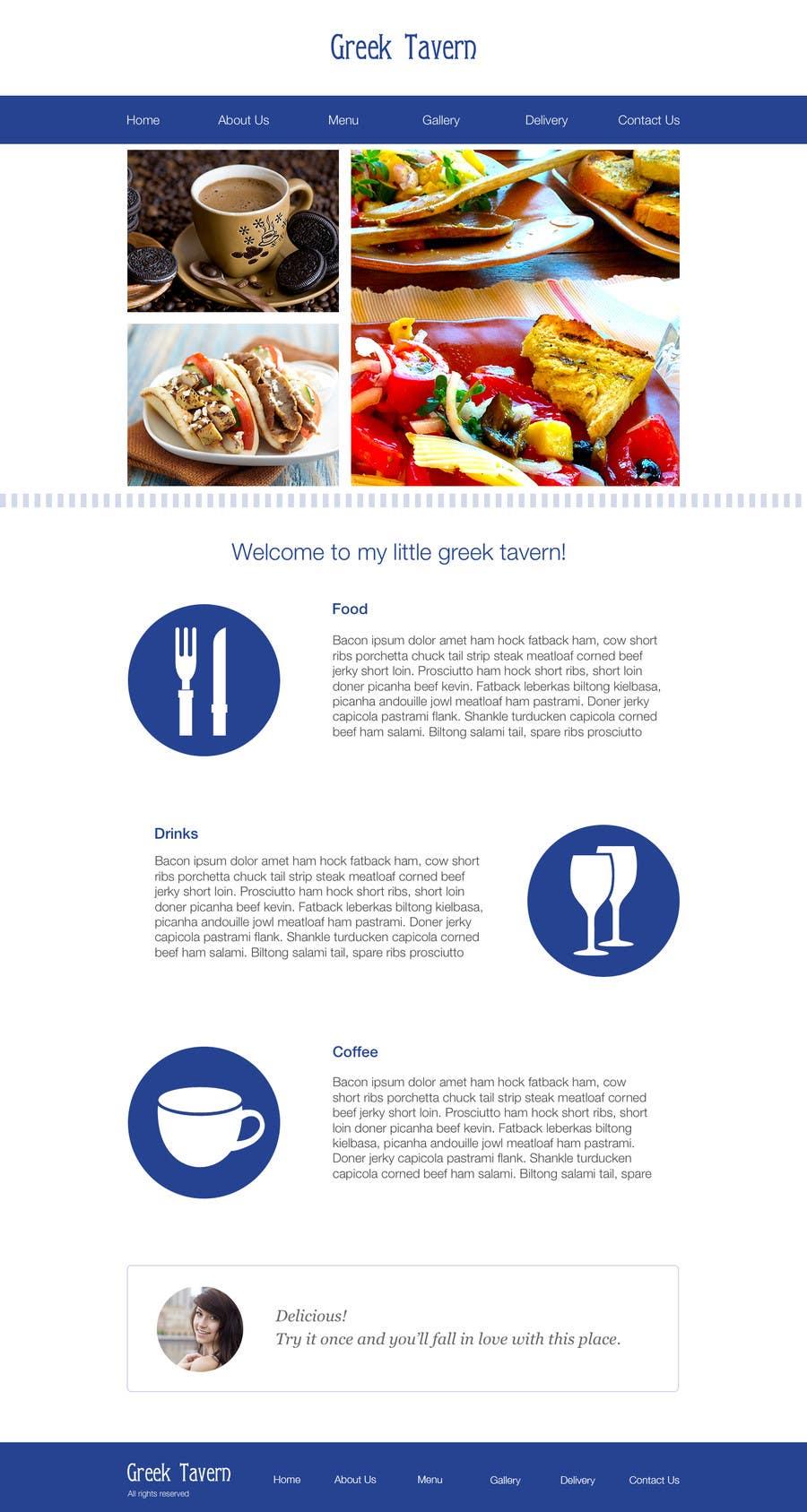 Participación en el concurso Nro.6 para Design for homepage Greek Traditional Tavern