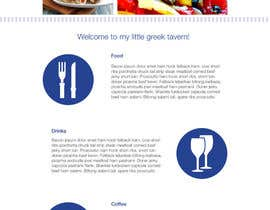 #6 para Design for homepage Greek Traditional Tavern de Verstakova