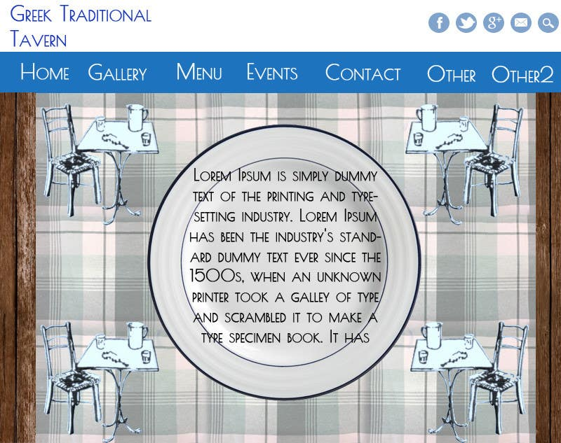 Konkurrenceindlæg #3 for Design for homepage Greek Traditional Tavern