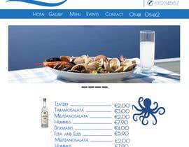 #8 untuk Design for homepage Greek Traditional Tavern oleh steftsak