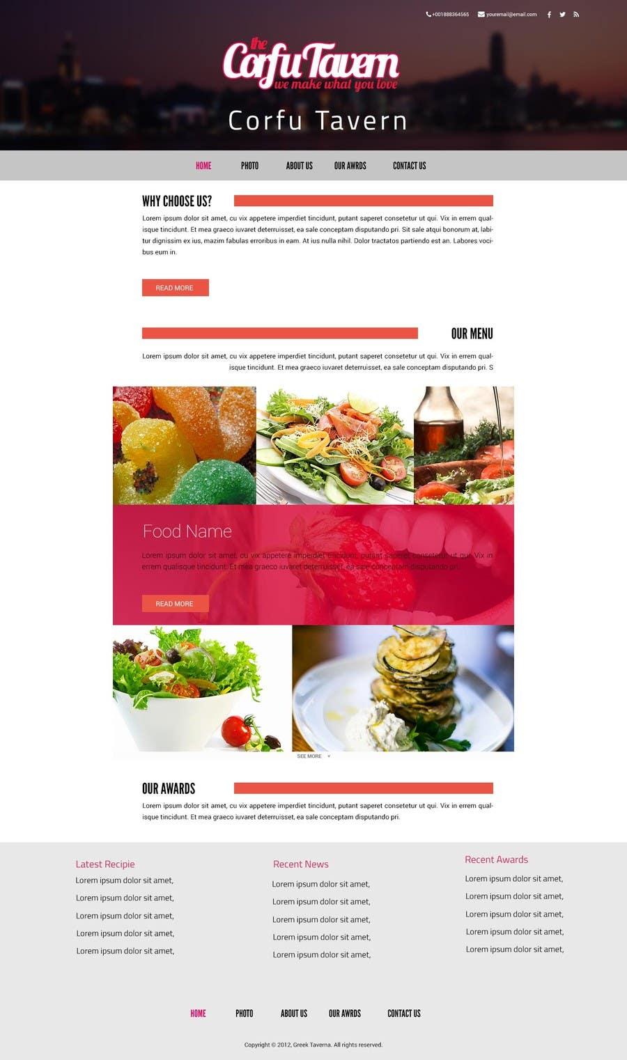 Konkurrenceindlæg #                                        4                                      for                                         Design for homepage Greek Traditional Tavern