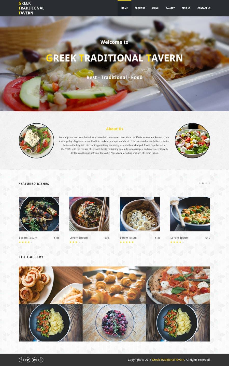 Konkurrenceindlæg #                                        12                                      for                                         Design for homepage Greek Traditional Tavern