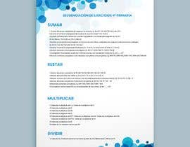 #15 for Graphic designer is needed to create a 2 page list design of math exercises. by haseebmughal0