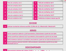 #19 for Graphic designer is needed to create a 2 page list design of math exercises. by AzizMd26