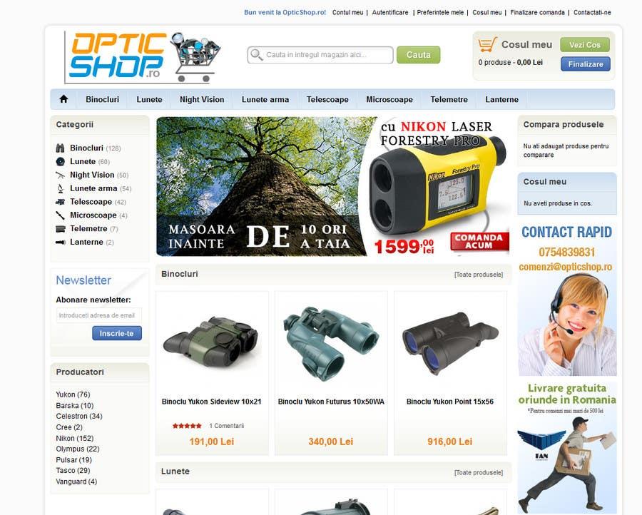 Bài tham dự cuộc thi #69 cho Logo Design for OpticShop.ro