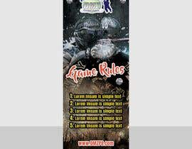nº 5 pour PAINTBALL RULES Banner Layout (Tough, Diamondplate, grunge, etc) par marumanit