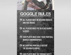 nº 26 pour PAINTBALL RULES Banner Layout (Tough, Diamondplate, grunge, etc) par UmarMuharrib