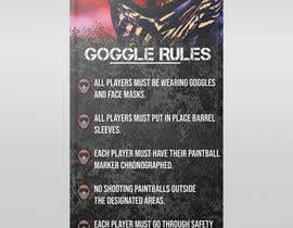 nº 29 pour PAINTBALL RULES Banner Layout (Tough, Diamondplate, grunge, etc) par UmarMuharrib