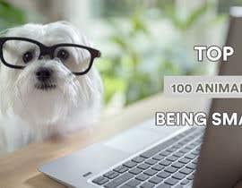 Nro 117 kilpailuun Create a Youtube thumbnail photo ----- for a youtube video (Top 100 Animals being smart) käyttäjältä mdtoha333