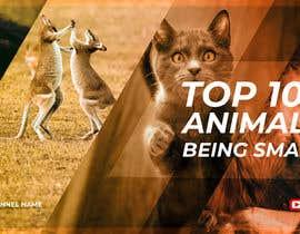 Nro 135 kilpailuun Create a Youtube thumbnail photo ----- for a youtube video (Top 100 Animals being smart) käyttäjältä proskilltutor