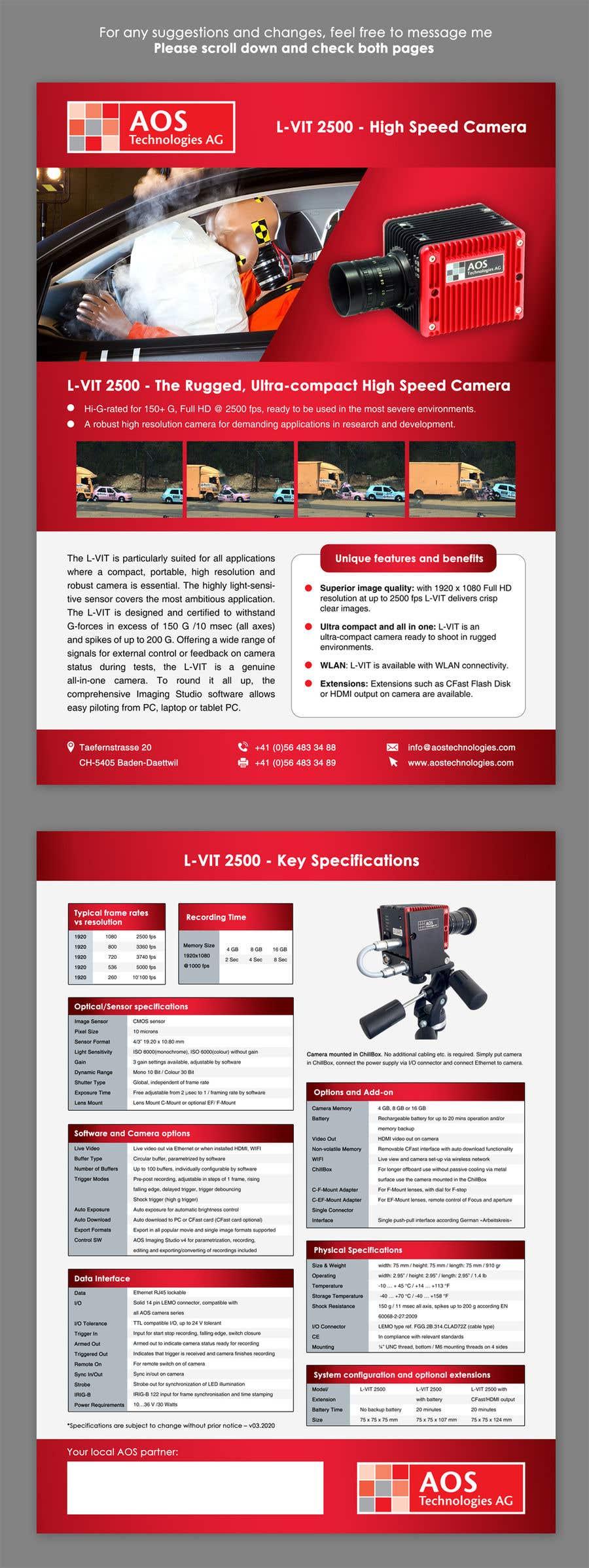 Kilpailutyö #                                        121                                      kilpailussa                                         New leaflet/datasheet/brochure design for our products