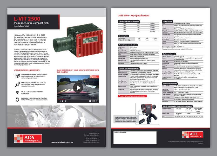 Kilpailutyö #                                        103                                      kilpailussa                                         New leaflet/datasheet/brochure design for our products