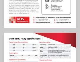 Nro 137 kilpailuun New leaflet/datasheet/brochure design for our products käyttäjältä onecameraman