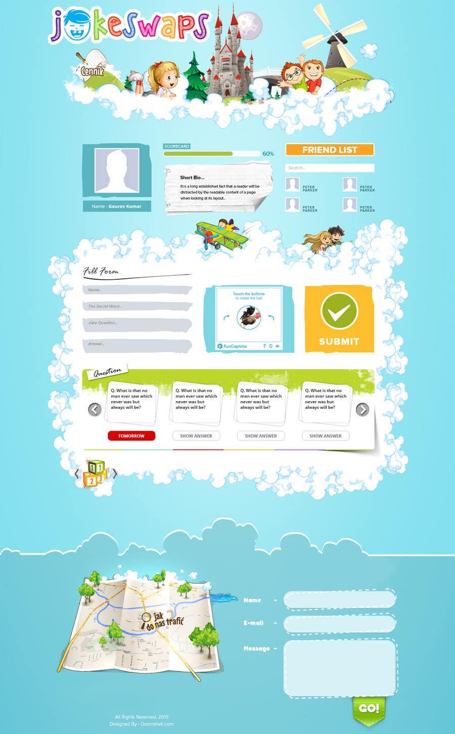 Bài tham dự cuộc thi #12 cho Design a Website Mockup for Kids Social Media site