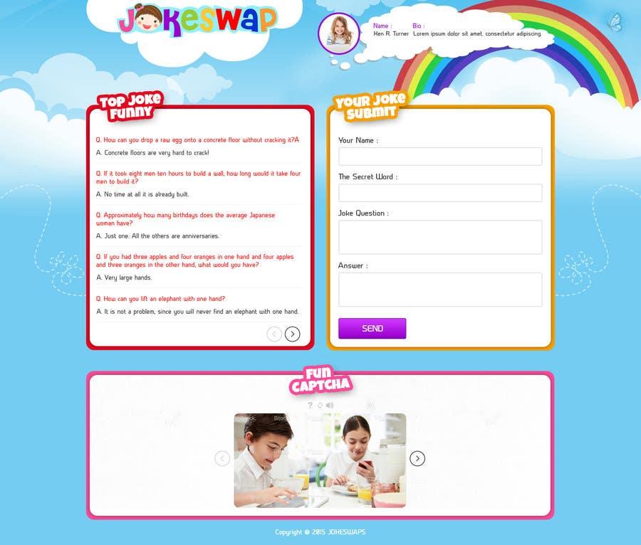 Bài tham dự cuộc thi #7 cho Design a Website Mockup for Kids Social Media site