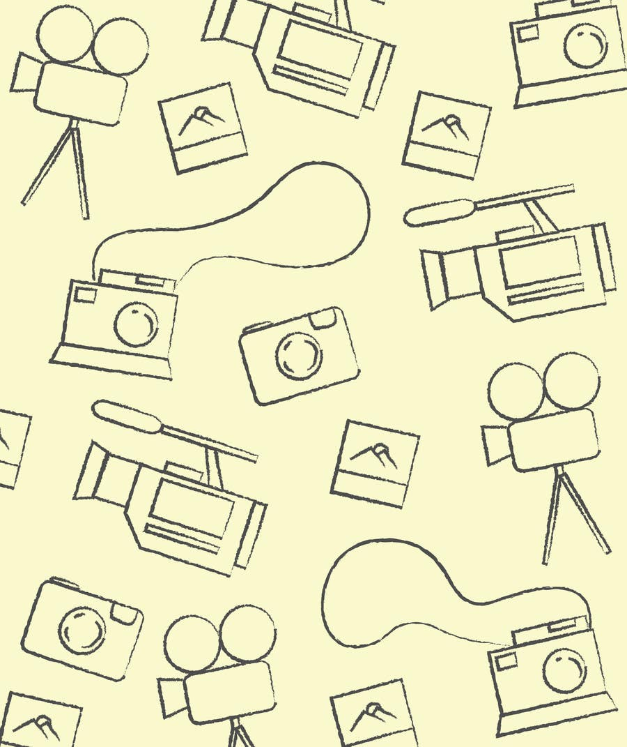 Contest Entry #                                        2                                      for                                         Seamless Doodle Style Pattern (Photography Related)