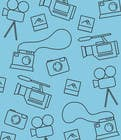 Seamless Doodle Style Pattern (Photography Related) için Graphic Design4 No.lu Yarışma Girdisi