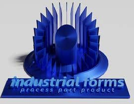 #41 cho CAD Design/ model up logo of Industrial Forms suitable for 3d Printing bởi Pespis