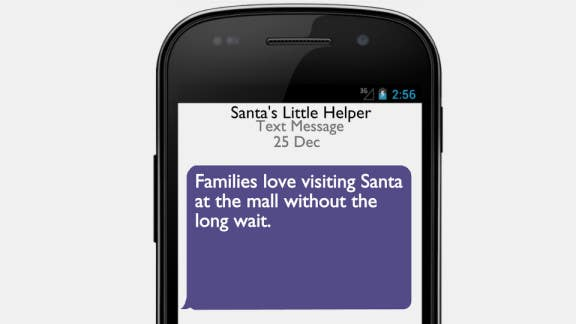 Contest Entry #                                        5                                      for                                         Create an Animation cell phone text message