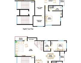 #41 untuk Redesign the architectural drawing of a duplex flat oleh sreedhiman