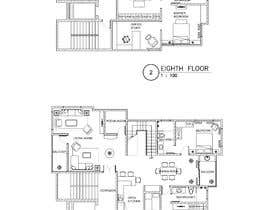 #42 untuk Redesign the architectural drawing of a duplex flat oleh husni6465