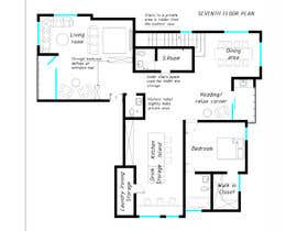 #11 untuk Redesign the architectural drawing of a duplex flat oleh GulnoraI