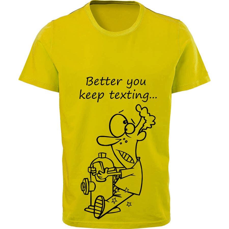 Participación en el concurso Nro.18 para Design a T-Shirt as a Walking Reminder