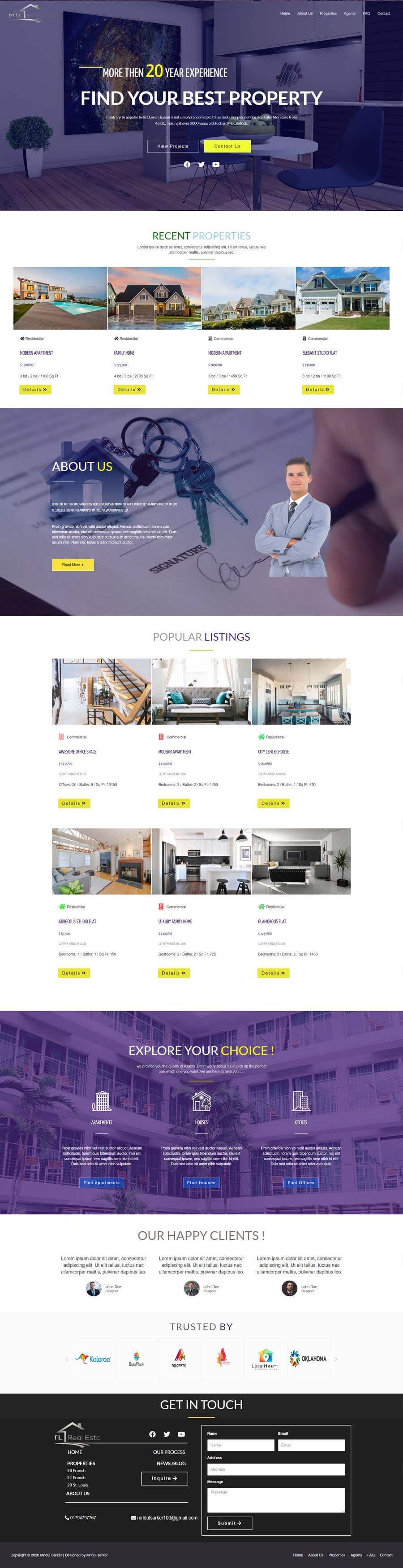 Kilpailutyö #                                        99                                      kilpailussa                                         MTL Real Estate
