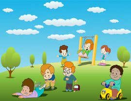 #11 para Illustration for Preschool activities for KIDS. por amandeep96