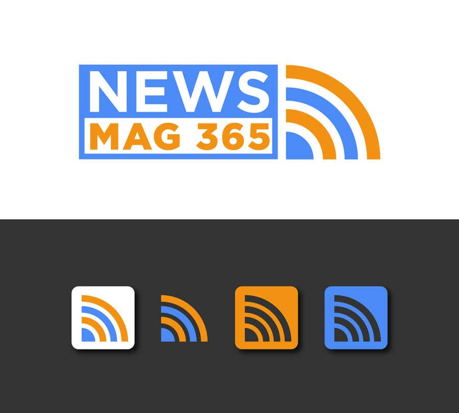 Penyertaan Peraduan #                                        32                                      untuk                                         Urgently required very sleek and eligent designed logo and favicon for my website which is based on online news => website brand name is News Mag 365 so i am looking for logo and favicon for it in 3 colors