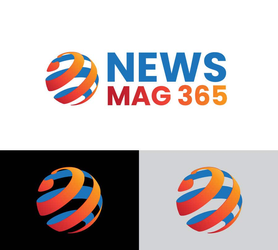 Penyertaan Peraduan #                                        37                                      untuk                                         Urgently required very sleek and eligent designed logo and favicon for my website which is based on online news => website brand name is News Mag 365 so i am looking for logo and favicon for it in 3 colors