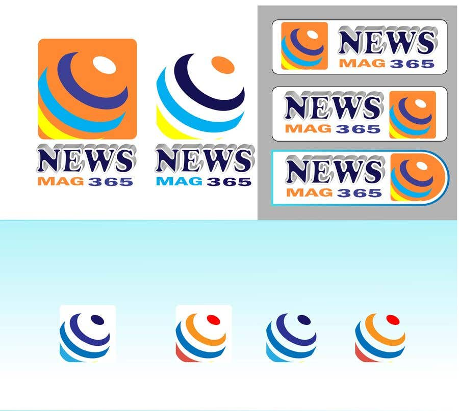 Penyertaan Peraduan #                                        36                                      untuk                                         Urgently required very sleek and eligent designed logo and favicon for my website which is based on online news => website brand name is News Mag 365 so i am looking for logo and favicon for it in 3 colors