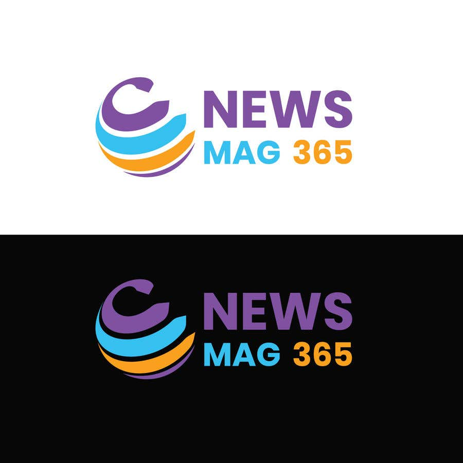 Penyertaan Peraduan #                                        50                                      untuk                                         Urgently required very sleek and eligent designed logo and favicon for my website which is based on online news => website brand name is News Mag 365 so i am looking for logo and favicon for it in 3 colors