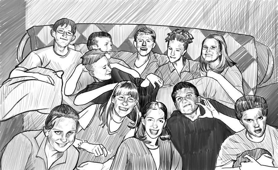 Kilpailutyö #                                        23                                      kilpailussa                                         Draw a high quality picture based on a picture