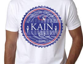 #41 untuk Design for a t-shirt for Kain University using our current logo in a distressed look oleh prodigitalart