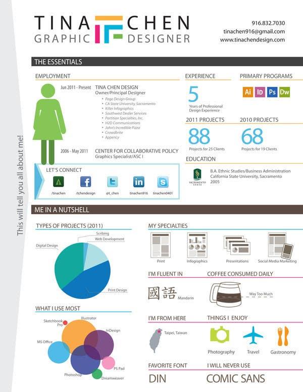 Participación en el concurso Nro.                                        13                                      para                                         Interesting Resume Design