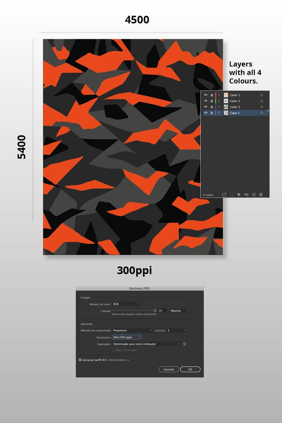 Kilpailutyö #                                        17                                      kilpailussa                                         Create a Camouflage Pattern