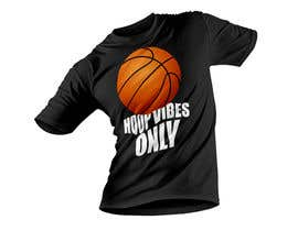 #46 cho I would like to Change words to HOOP VIBES ONLY in the same font pattern it is already. Remove the skull and flowers and add a basketball where the skull is over the letters.. i would like it in black and white for sure.. bởi johnsabuz