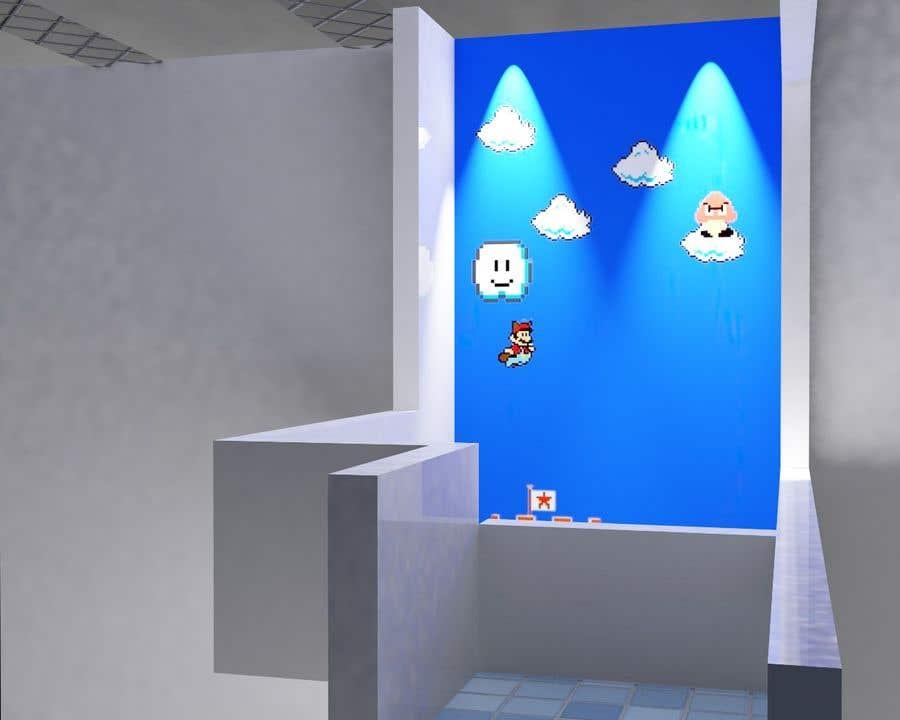 Penyertaan Peraduan #                                        11                                      untuk                                         Build a wall design for my house - Mario bross as an example