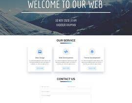 nº 10 pour Build a One page website par rezvirayhan2002