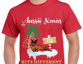 #75 for Design a stoner Kangaroo on the beach Christmas T-Shirt by shahnewajefte2
