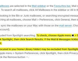 #5 for Enabling Search option in the email client in MacBok Air by Pranithchowdary