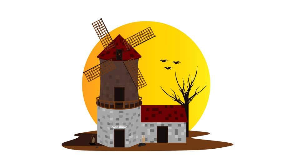 Bài tham dự cuộc thi #                                        28                                      cho                                         Illustrate and Animate Original Old-Fashioned Windmill