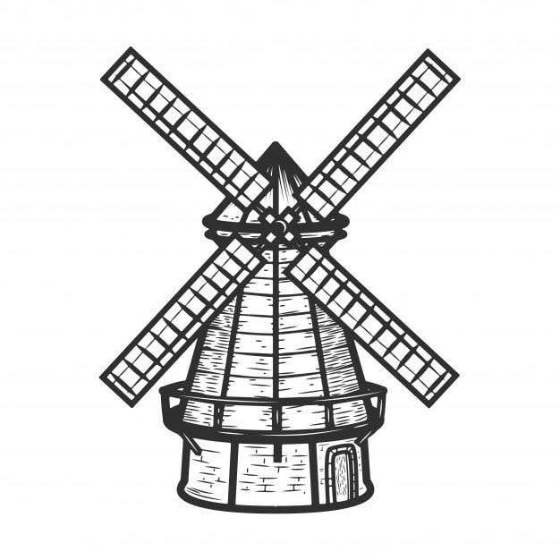 Bài tham dự cuộc thi #                                        29                                      cho                                         Illustrate and Animate Original Old-Fashioned Windmill