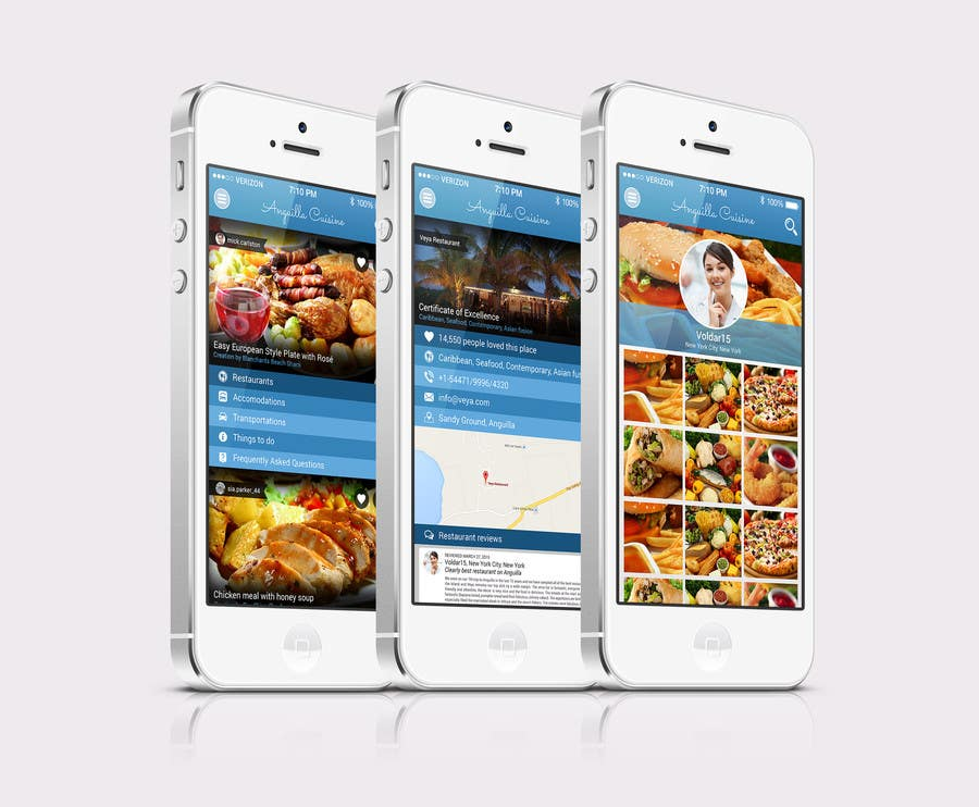 Contest Entry #                                        13                                      for                                         Anguilla Cuisine App UI Mockup