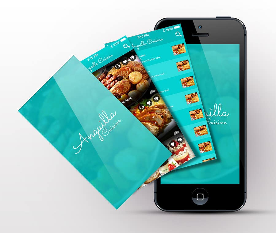 Contest Entry #                                        17                                      for                                         Anguilla Cuisine App UI Mockup