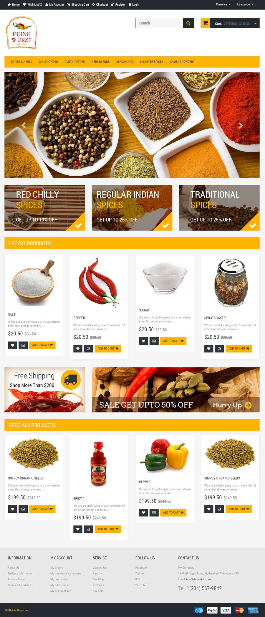 Contest Entry #                                        12                                      for                                         Design for a completely new online shop, selling spices -- 2
