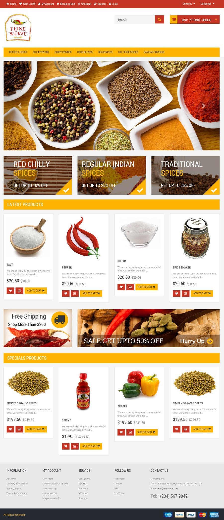Contest Entry #                                        13                                      for                                         Design for a completely new online shop, selling spices -- 2